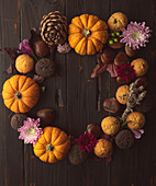 Autumn pumpkin wreath