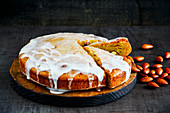 Almond cake with sugar glaze
