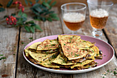 Mexican mushroom quesadilla with cheese
