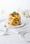 Pasta timbale with beef and bechamel sauce