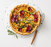 Vegetable quiche with gorgonzola dolce