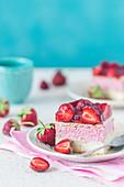 A strawberry cream slice