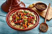 Vegetable tagine with couscous (Morocco)