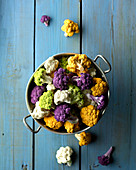 Colour cauliflowers