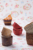 Various paper and cardboard cake cases