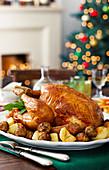 American turkey with roast potatoes