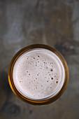 Bier im Glas (Aufsicht)
