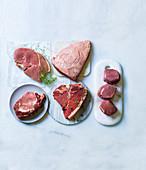 Sirloin Steak, Picanha Steak, Fillet, T-Bone-Steak and Rib-Eye-Steak