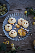 Hand pies (mini pastries) filled with mirabelle plums