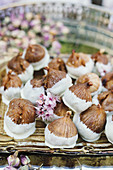 Dried figs with white chocolate