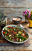 Puy lentil salad with zucchini