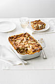 Lasagne verdi alla bolognese (spinach pasta bake with meat sauce, Italy)