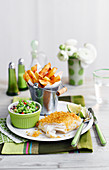 Fish and Chips with mushy peas (England)