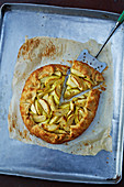 Apple tart, sliced
