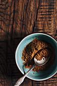Cinnamon powder in a bowl