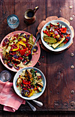 Roasted vegetables with lemon couscous (Morocco)