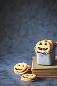 Halloween pumpkin shaped cookies