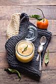 Mandarin curd in a glass