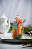 Candied papaya, melon and kiwi for gifting