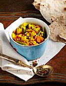 Kootu sambar - vegetable stew with lentils, coconut, coriander and potatoes (India)