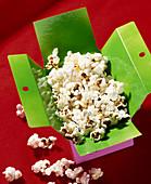 Popcorn in a cardboard box