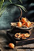 Fresh loquat fruit