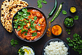 Traditional Indian dish: Chicken tikka masala with spicy curry