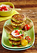 Tofu and vegetable burgers