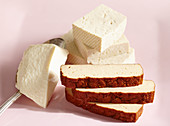 Various tofu varieties: silk tofu, natural tofu and smoked tofu