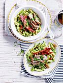 Pork, Sopressa and Kale Pesto Pasta