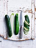 Zucchini in slices