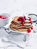 Raspberry Pancakes with Coconut Yoghurt