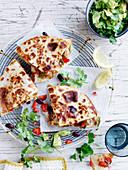 Sandwich Press Chicken Quesadillas