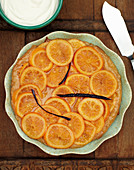 Orange tart with vanilla (seen from above)