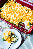 Chicken casserole with broccoli and cheese