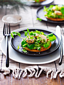 Scallop Tart with Pea and Mint Puree