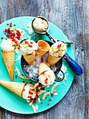 Coconut and Raspberry Ice-Cream
