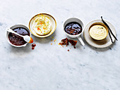 Pudding Sauces - Salted Caramel Sauce, Citrus Hard Sauce, Warm Fudge Sauce, Bourbon Creme Anglaise