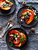 Spicy Roasted Pumpkin with Fetta and Olives