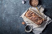 Chocolate babka with cinnamon