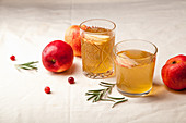 Apple punch with rosemary