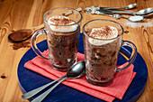 Chocolate keto mug cakes