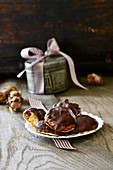 Fine potato gingerbread with spelt and hazelnuts