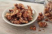 Keto muesli bars with nuts