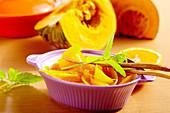 Pickled pumpkin with orange and lemon vinegar