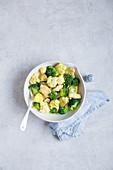 Cauliflower and broccoli curry