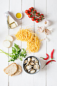 Pasta with Mediterranean ingredients