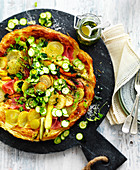 Vegetable and Sour Cream Tart