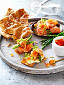 Bruschetta with Salmon Tartare