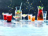 Ginger and Pomegrante Punch, White Sangria Spritzer, Rubyo, Rose Sangria
